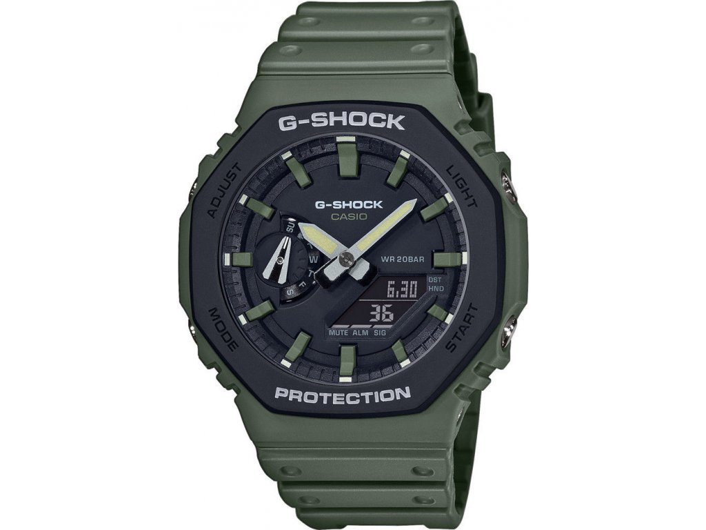 casio g shock original ga 2110su 3aer carbon core guard utility colors series 188882 214765