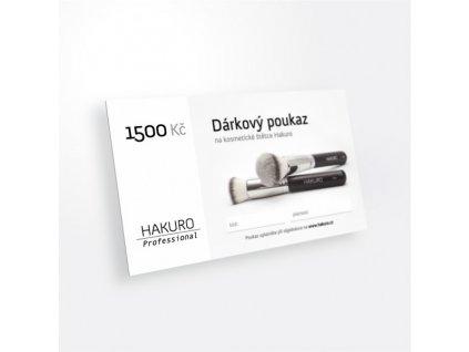 darkovy poukaz na 1500 kc
