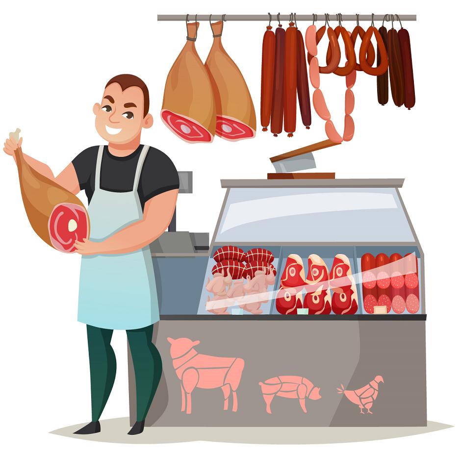 Obchody - Pekařství, Ovoce a Zelenina, řeznictví