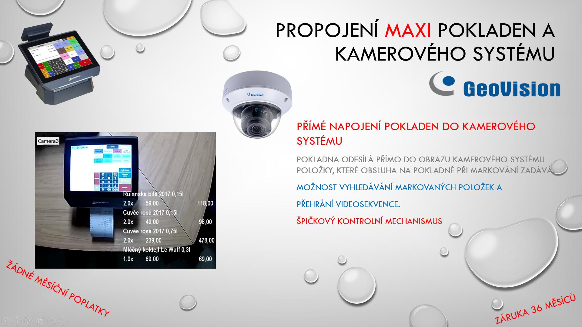 Nové propojení MAXI pokladen a kamerového systému GeoVision