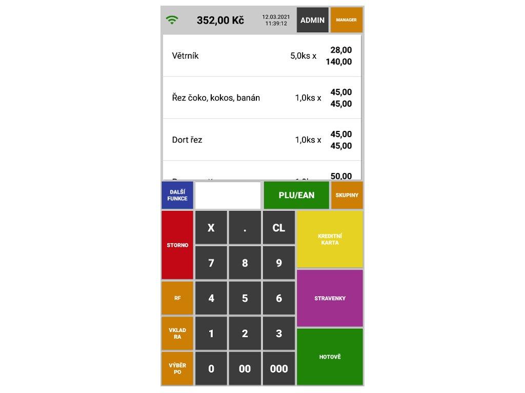 Sunmi V2 PRO + aplikace Mini pokladna