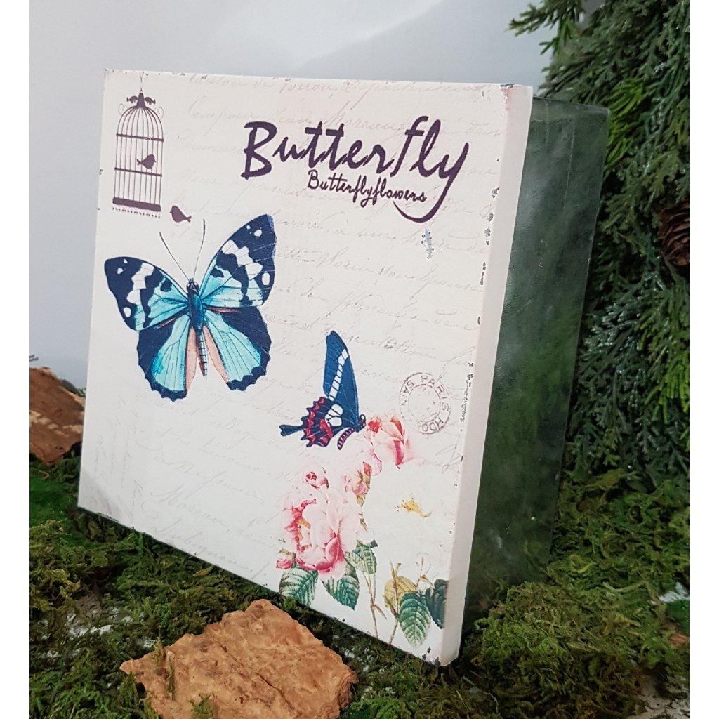Plechova krabica Butterfly