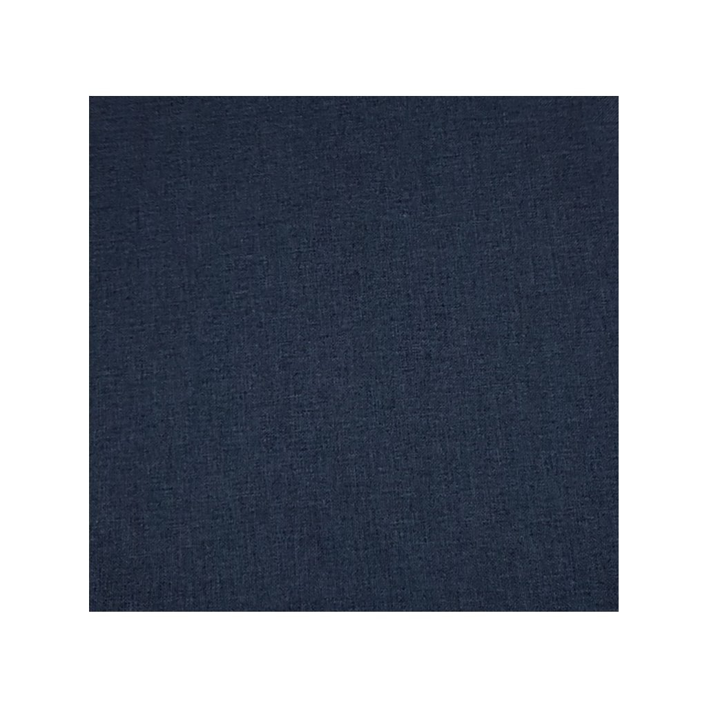Sedák ovál jednofarebný 40x40cm, 8993/TMA - Tmavomodrá