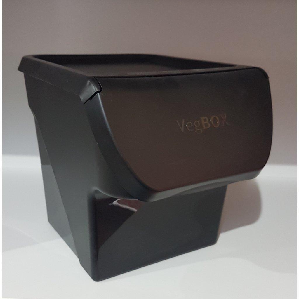 Plastový box na zeleninu, 11600/CIE - Čierna