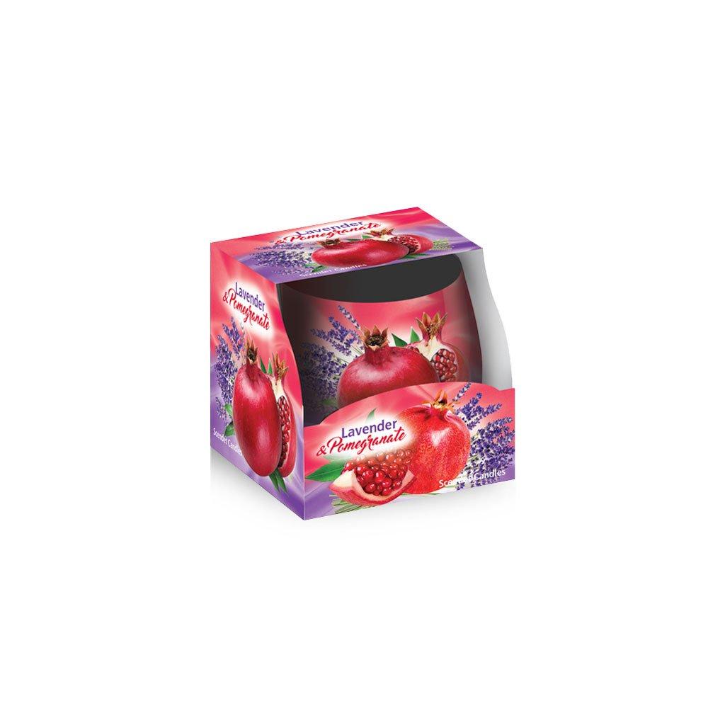 Sviecka vonna levandula garanatove jablko v skle 100g