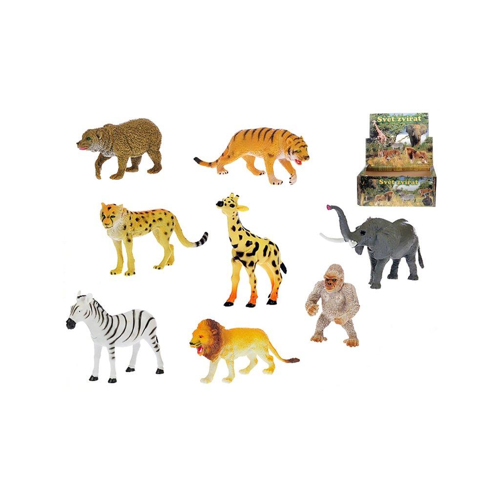 Zvieratká safari 13-20cm 8druhov 24ks v DBX