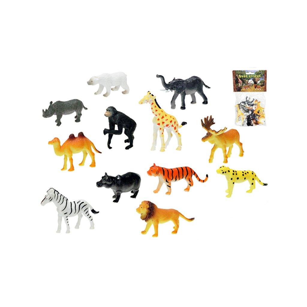 Zvieratká safari 6,5-9cm 12ks v sáčku
