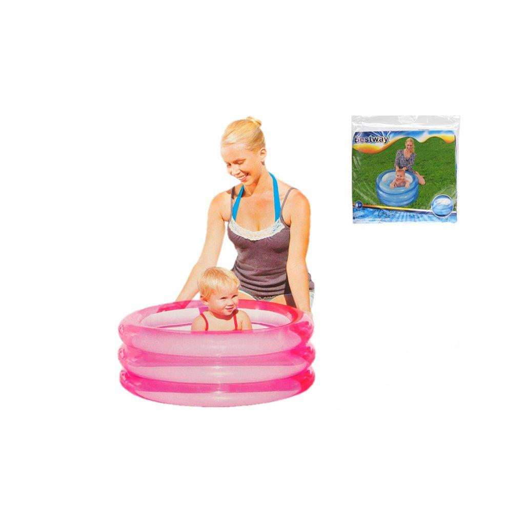 Bazén nafukovací 70x30cm 3komory 2farby 48L 24m+ v sáčku