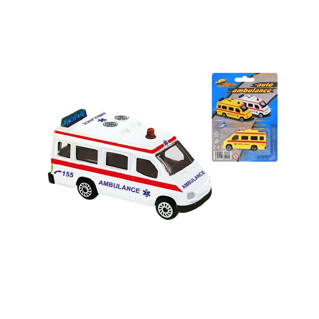 Ambulancia 7cm kov 2farby na karte