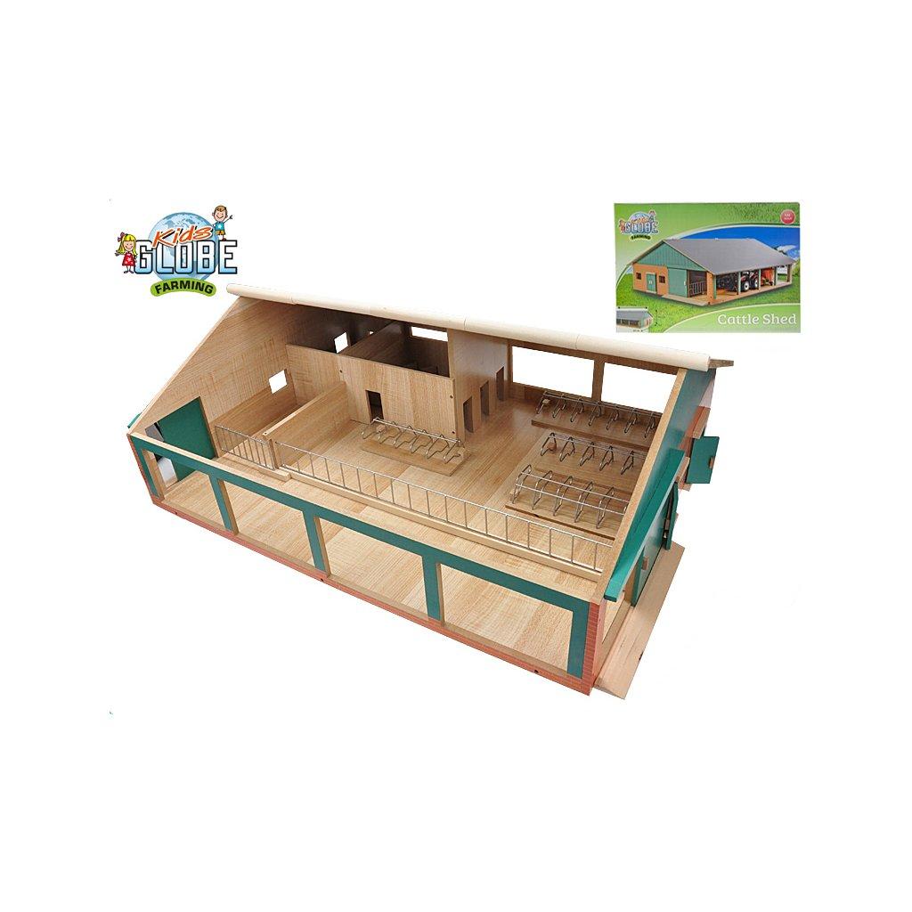 Kravín s dojičkou drevený 75x60x26,5cm 1:32 v krabičke