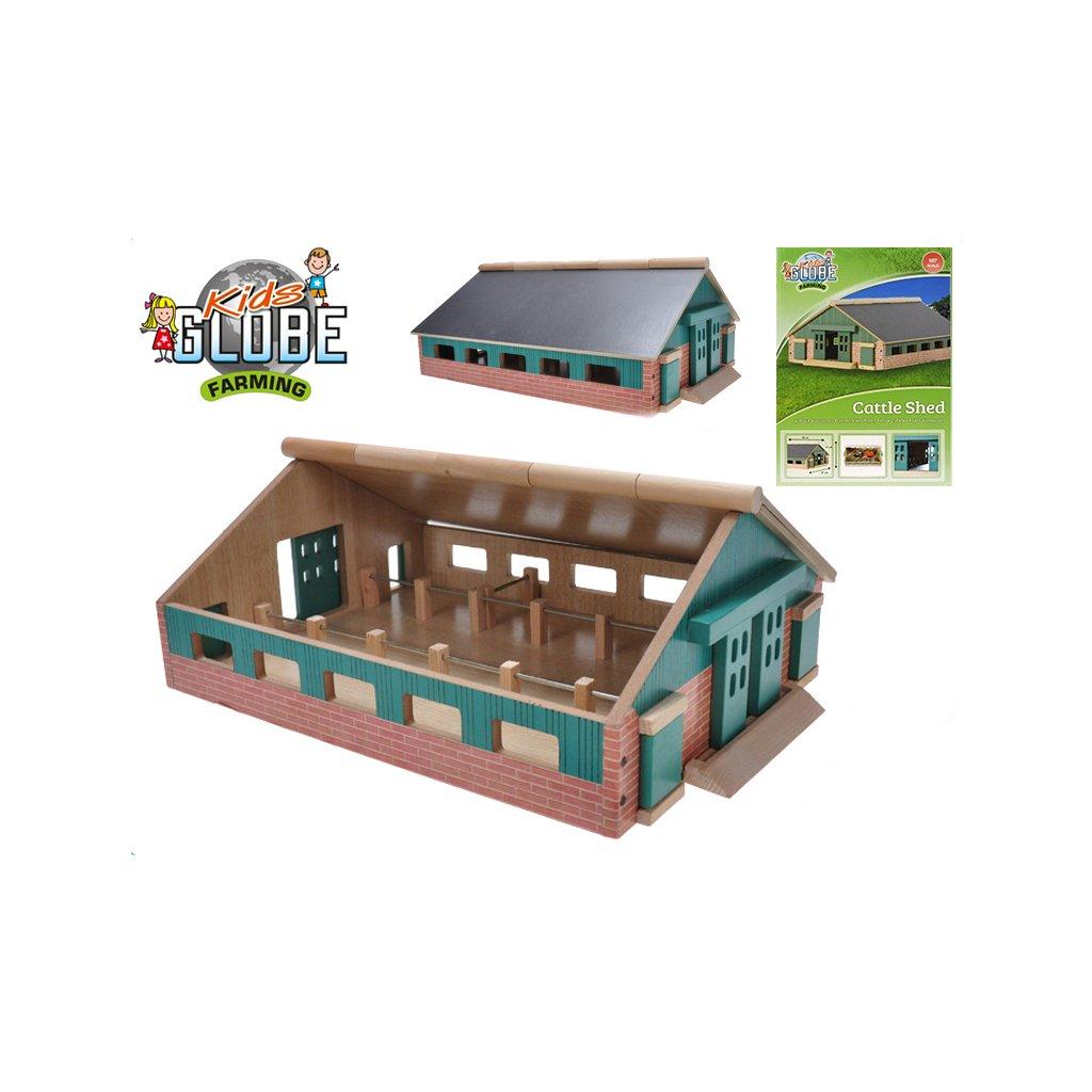 Farma drevená 21x30x11cm 1:87 v krabičke