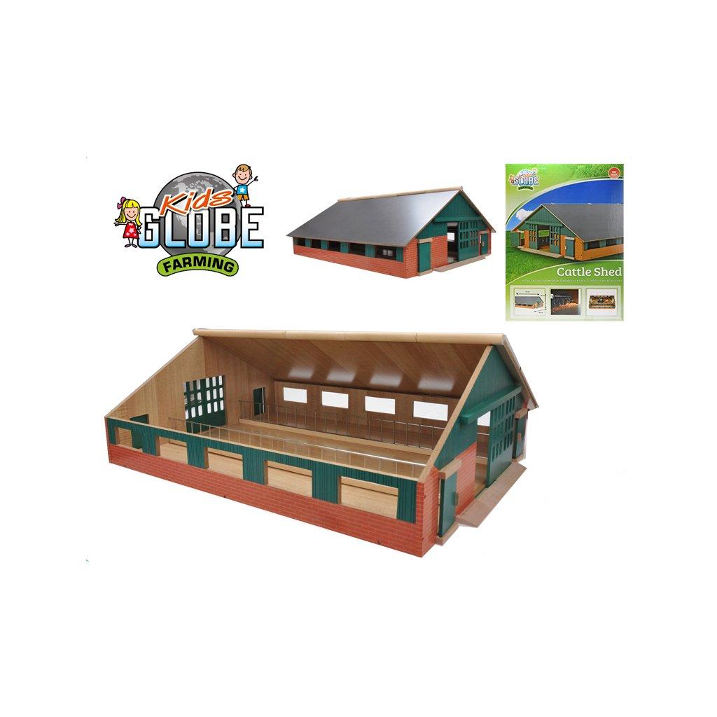 Farma drevená 73x60x26cm 1:32 v krabičke
