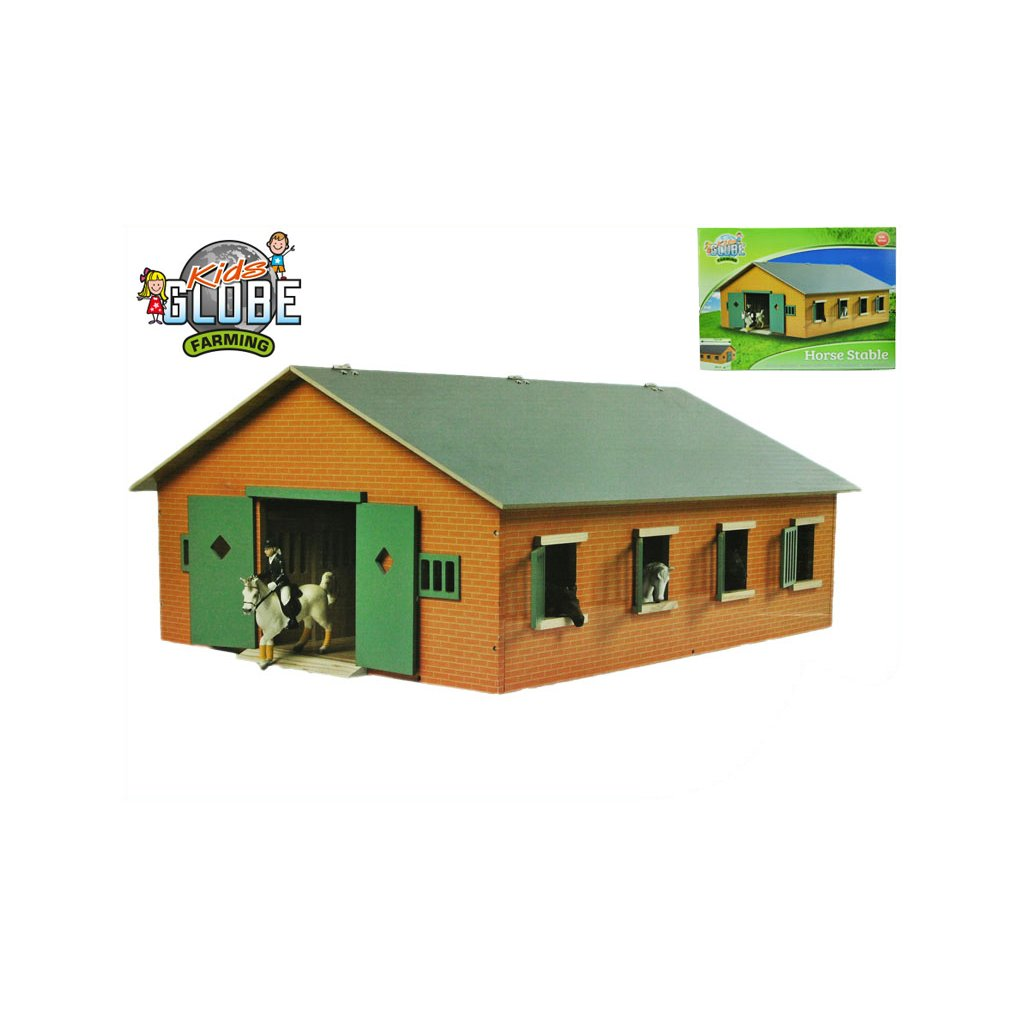 Stajňa pre kone drevená 72,5x60x37,5cm 1:24 v krabičke