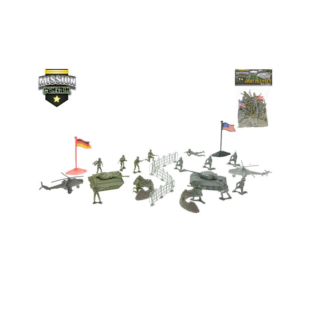 Súprava vojaci s mapou 2vojská v sáčku
