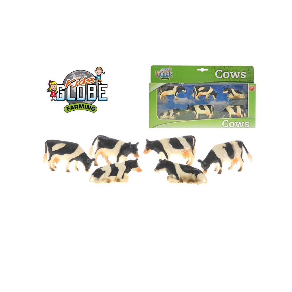 Krava 1:32 6ks čierno-biela v krabičke