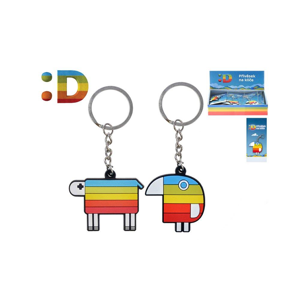 Prívesok na kľúče Duháček / ovečka na karte v sáčku 24ks v DBX