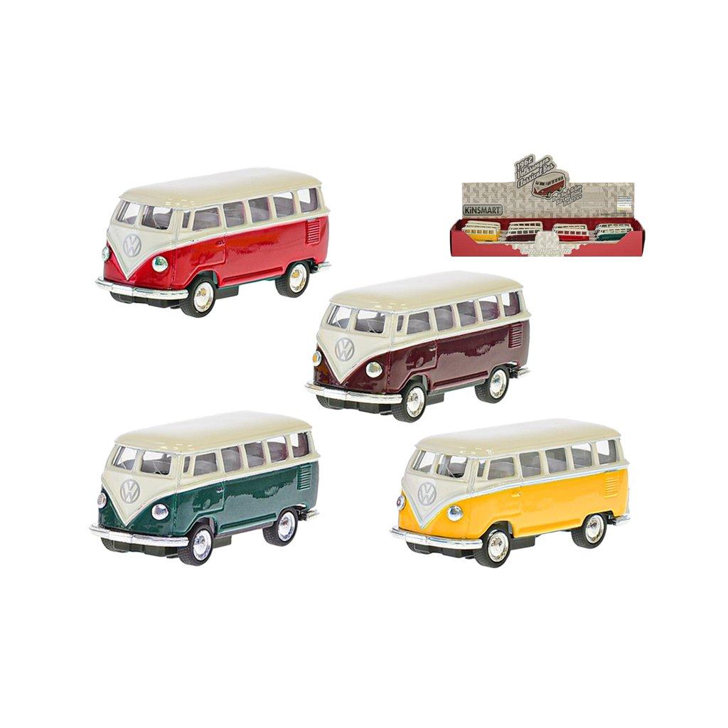 VW Classic autobus 1962 1:64 kov na spätný chod 4farby 12ks v DBX