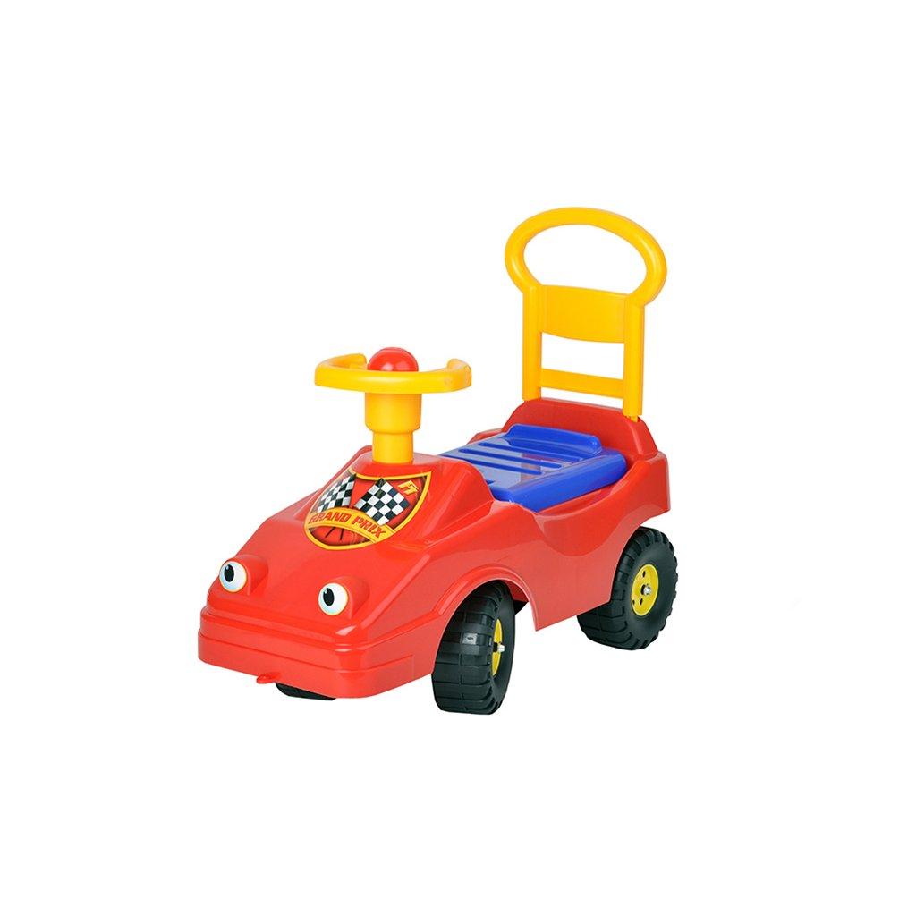 Odrážadlo auto 54cm červené s klaksónom max. 25kg 12m+ v sáčku