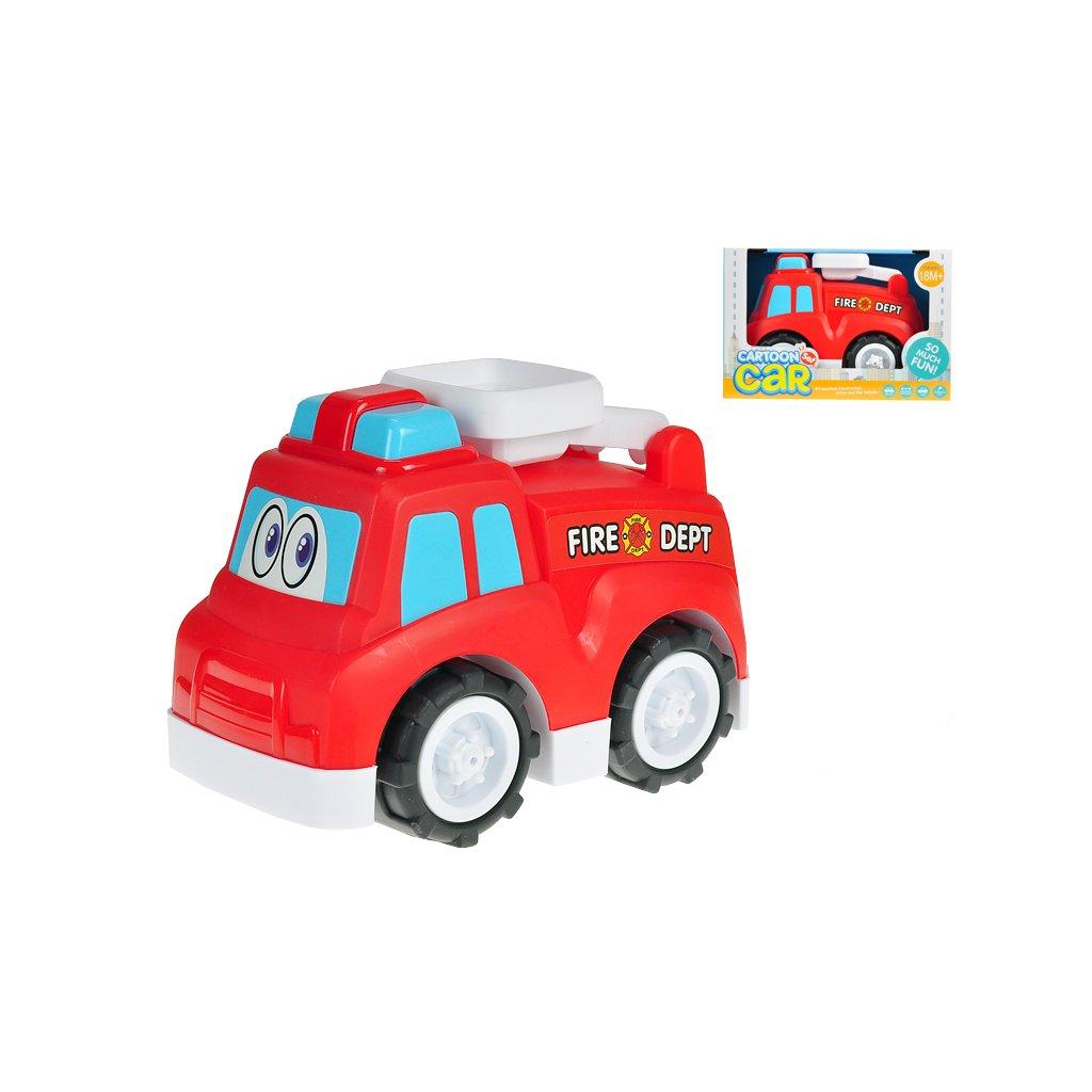 Auto hasičské veselé 25cm voľný chod 18m+ v krabičke