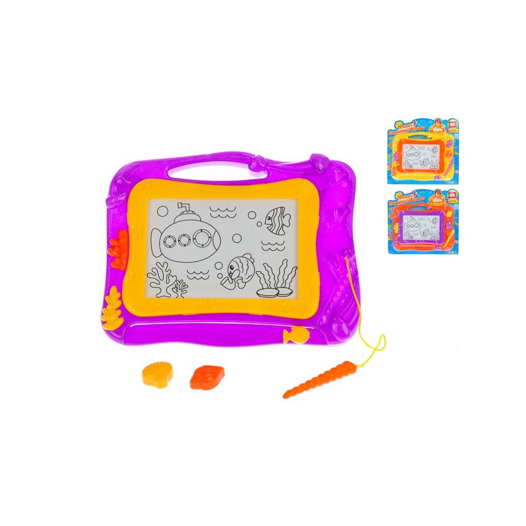 Magnetická kresliaca tabuľka 33x26cm 3 farby na karte