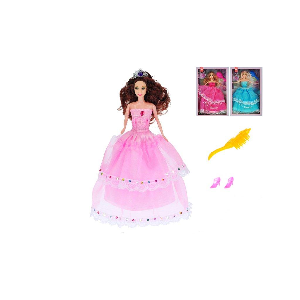 Bábika princezna kĺbová 29cm s doplnkami 3farby v krabičke