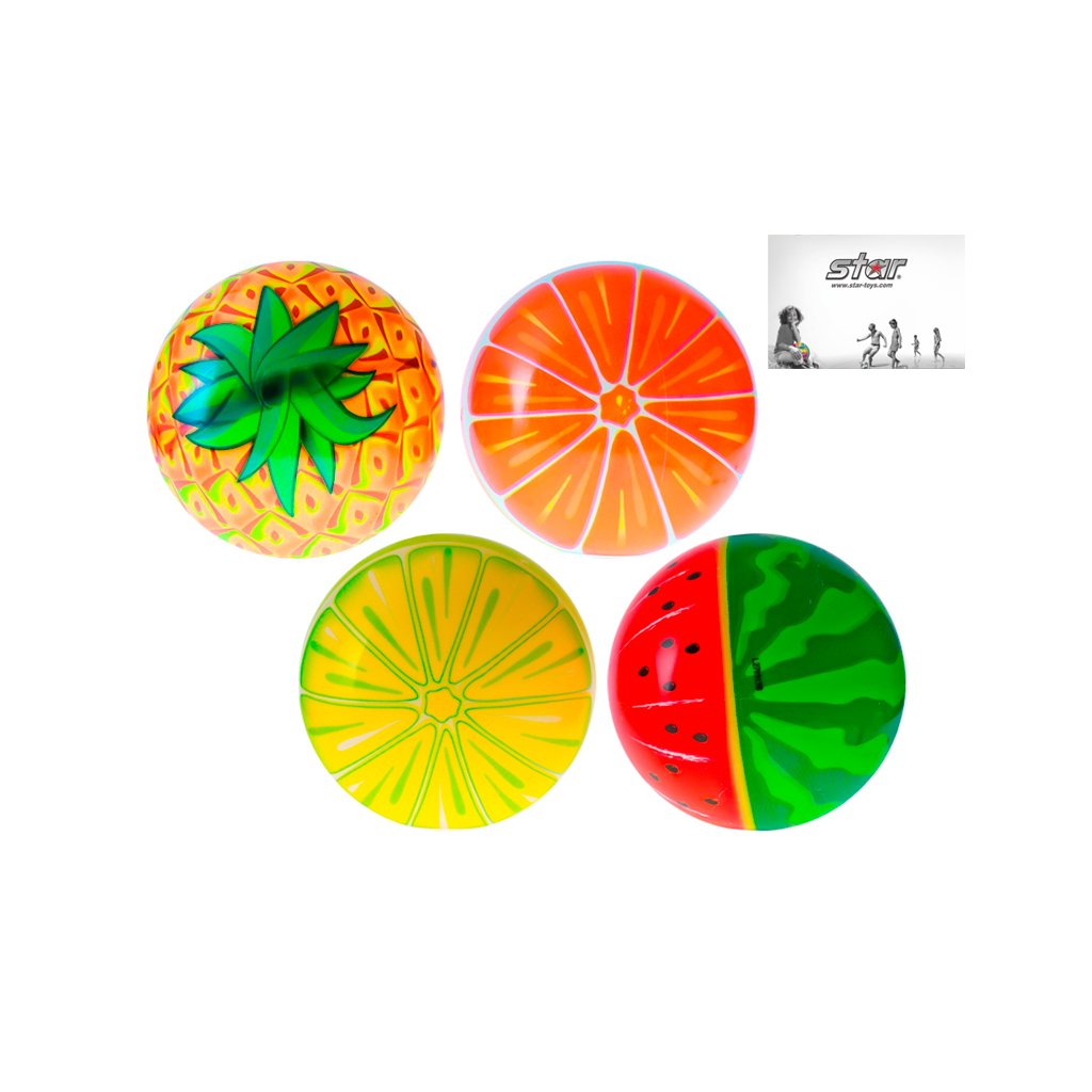 Lopta 11cm ovocie 10m+ 4druhy 24ks v PDQ