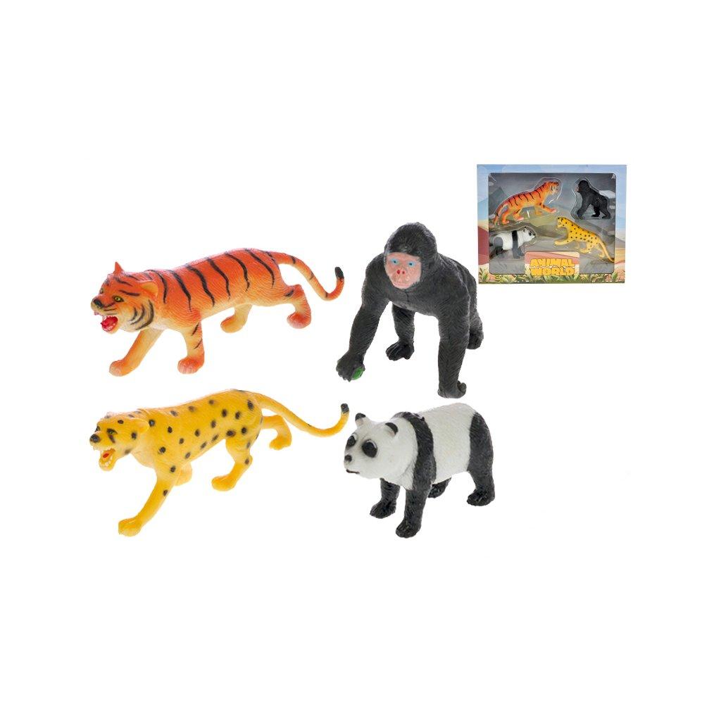 Zvieratka safari 8-15cm 4ks v krabičke