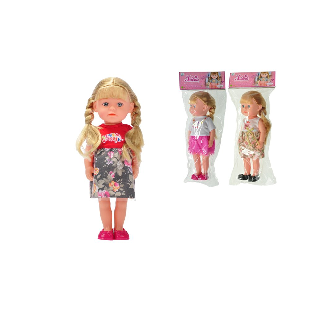 Bábika Jelena 36cm 3druhy v sáčku