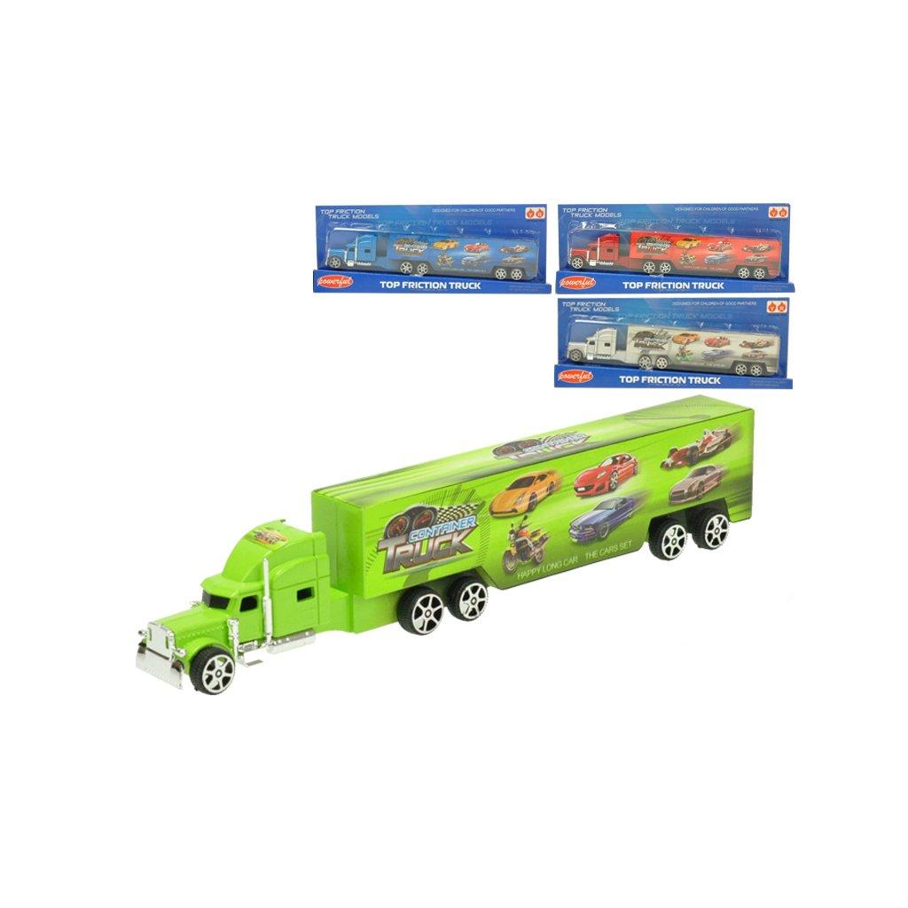 Kamión na spätný chod 23cm 4farby na karte
