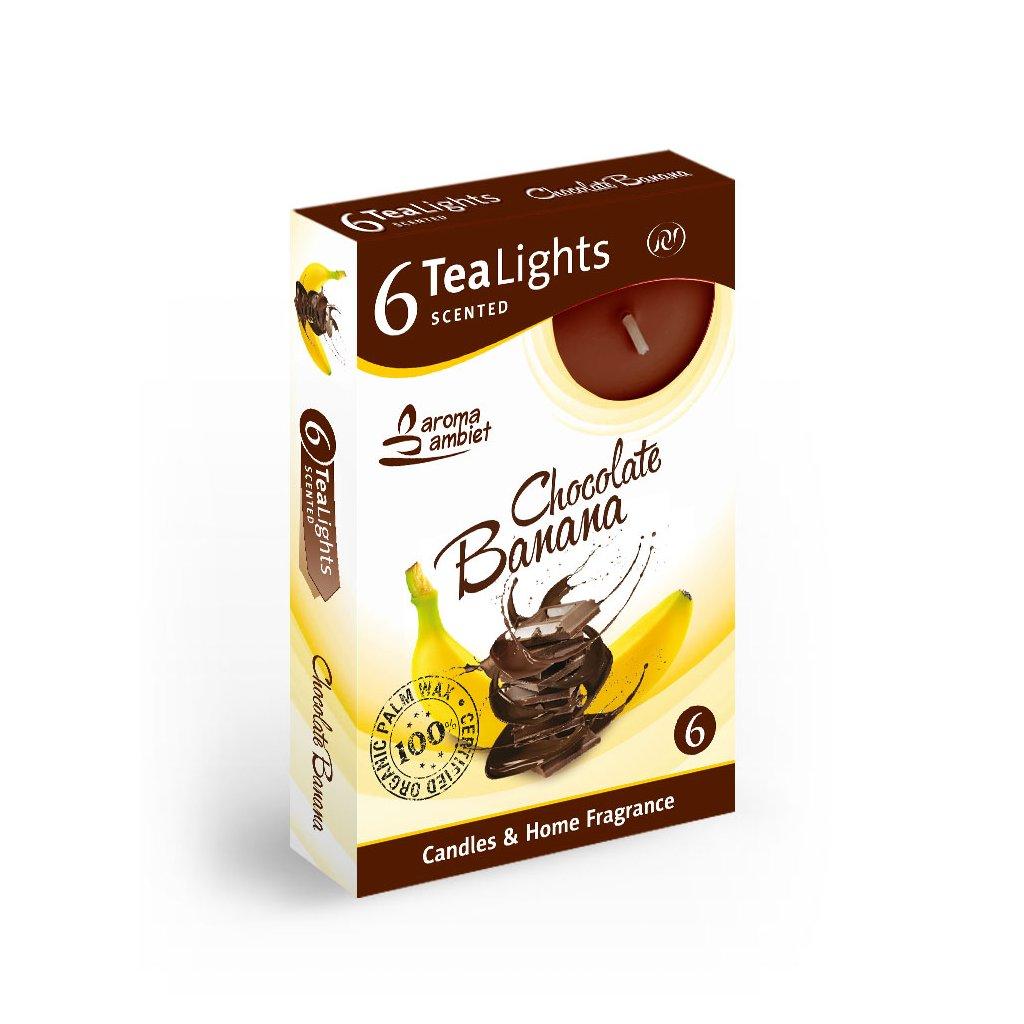 Vonne cajové sviecky 6ks cokolada banan