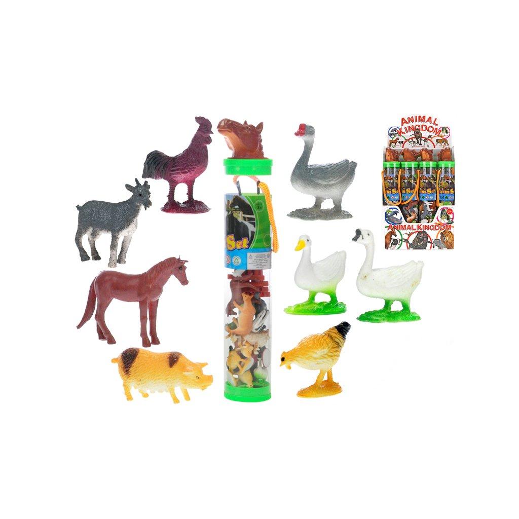 Zvieratka farma 16ks 3-6cm s doplnkami v tube
