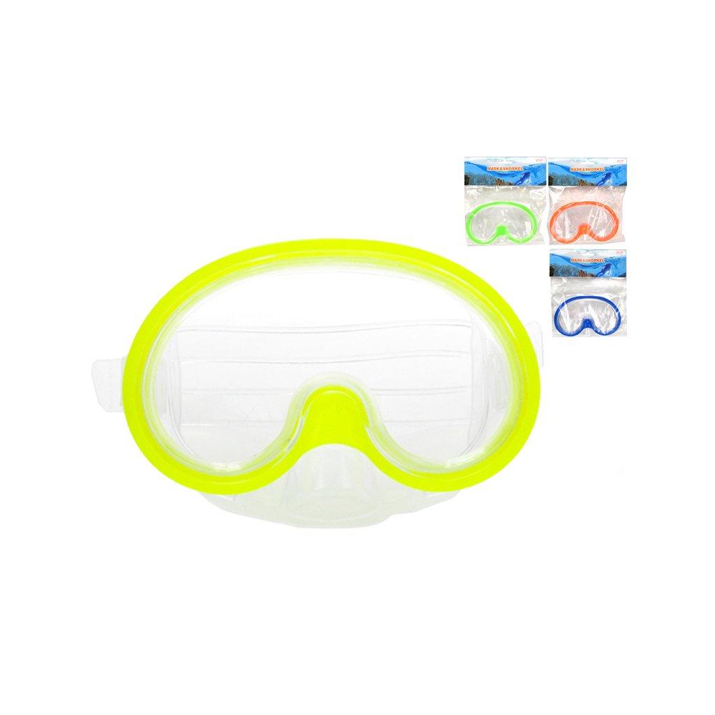 Potápačské okuliare 15cm 4farby v sáčku