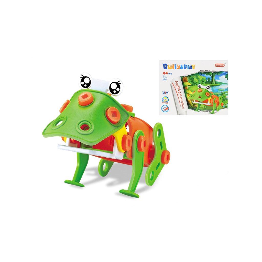 Stavebnica žaba skrutkovacia 44dielikov v krabičke