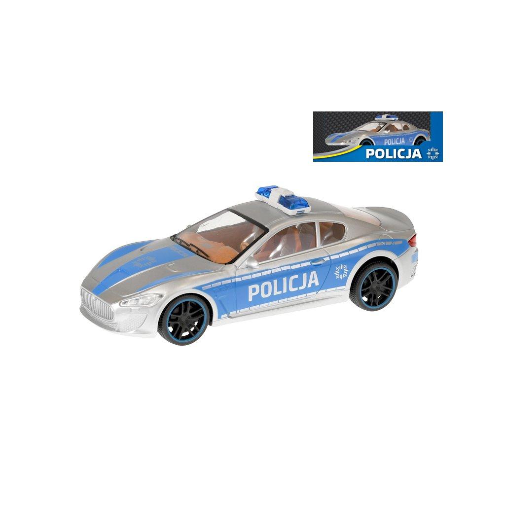 Auto polícia polský dizajn 1:16 28cm v krabičke