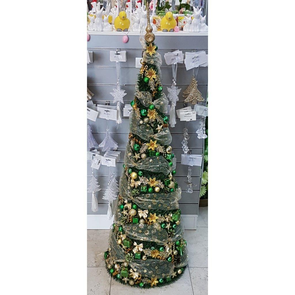 Vianocny stromcek zlato zeleny