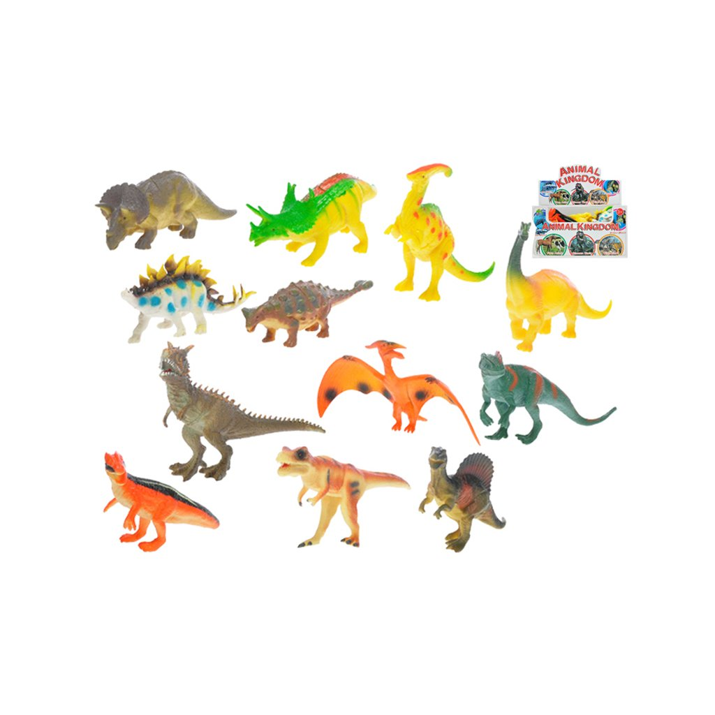Dinosaurus 13-17cm 12druhov 12ks v DBX