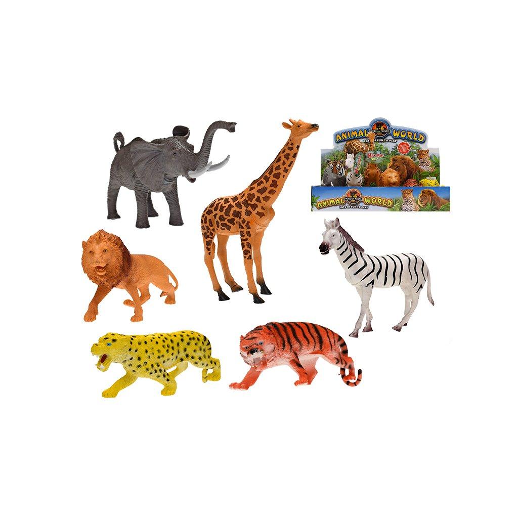 Zvieratká safari 20-24cm 6druhov 6ks v DBX