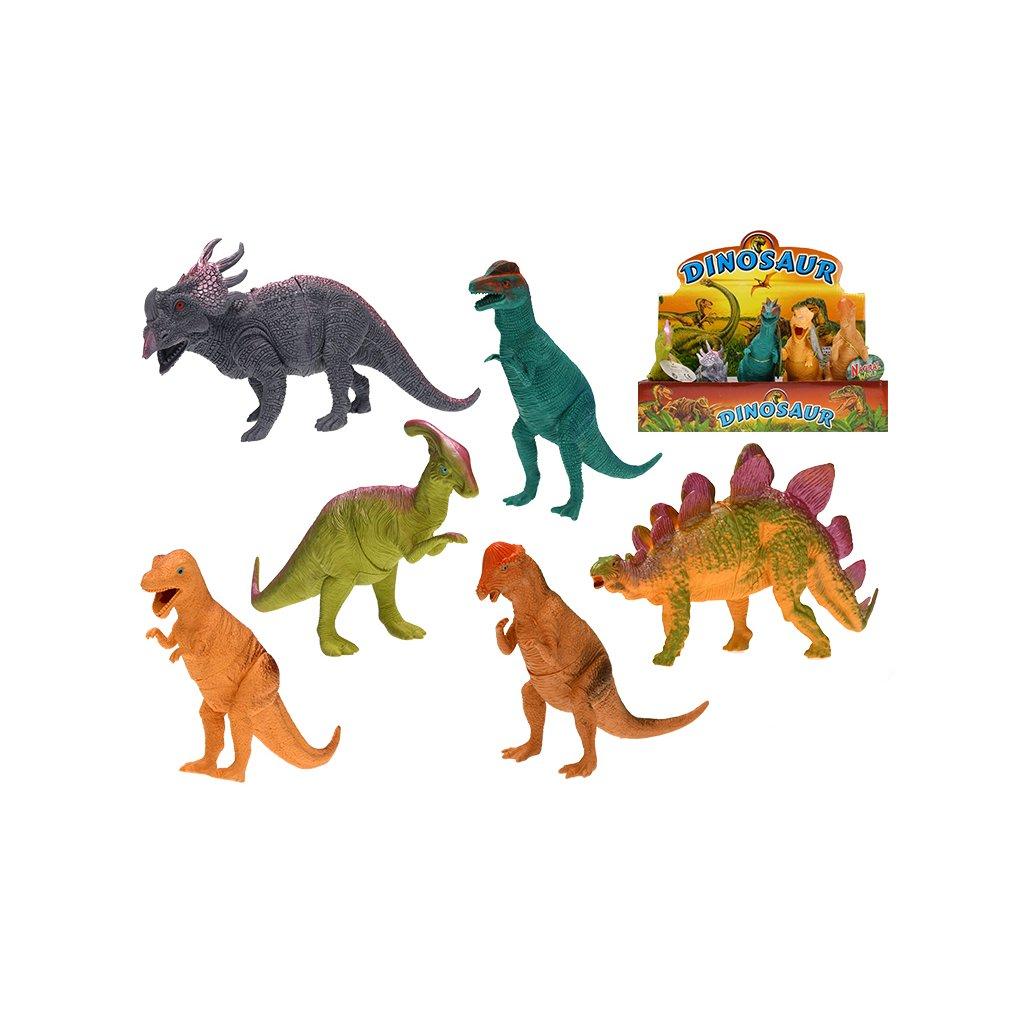 Dinosaurus 22-24cm 6druhov 6ks v DBX