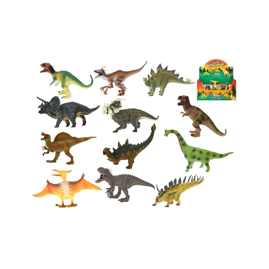 Dinosaurus 20-25cm 12druhov 12ks v DBX