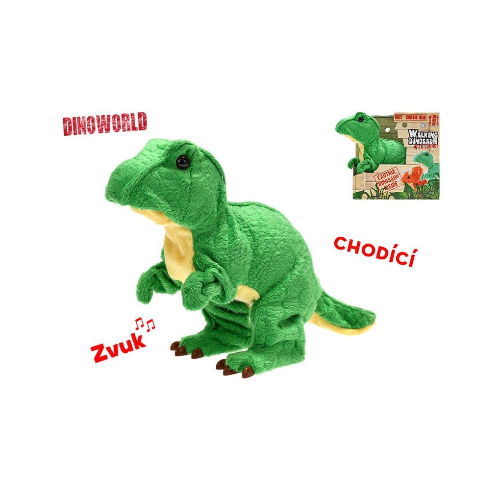 Tyranosaurus Rex plyšový 18cm na batérie so zvukem chodiaci 12m+ v krabičke