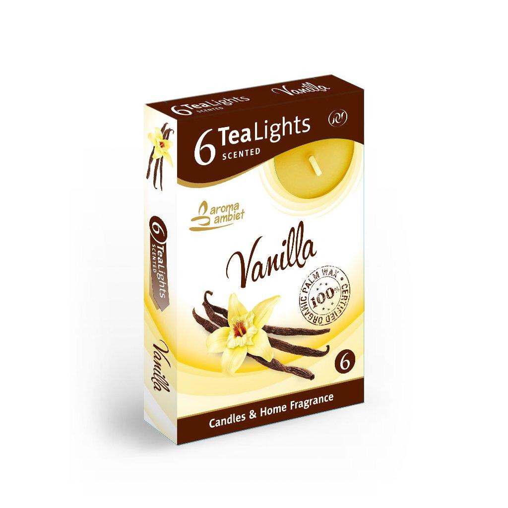 Vonne cajové sviecky 6ks vanilka
