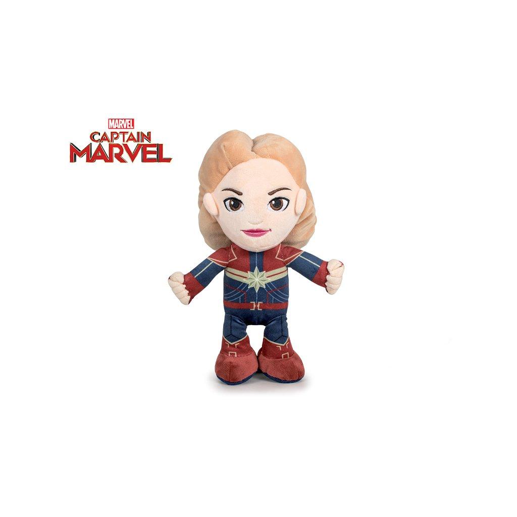 Avengers Kapitán Marvel plyš 30cm stojací 0m+