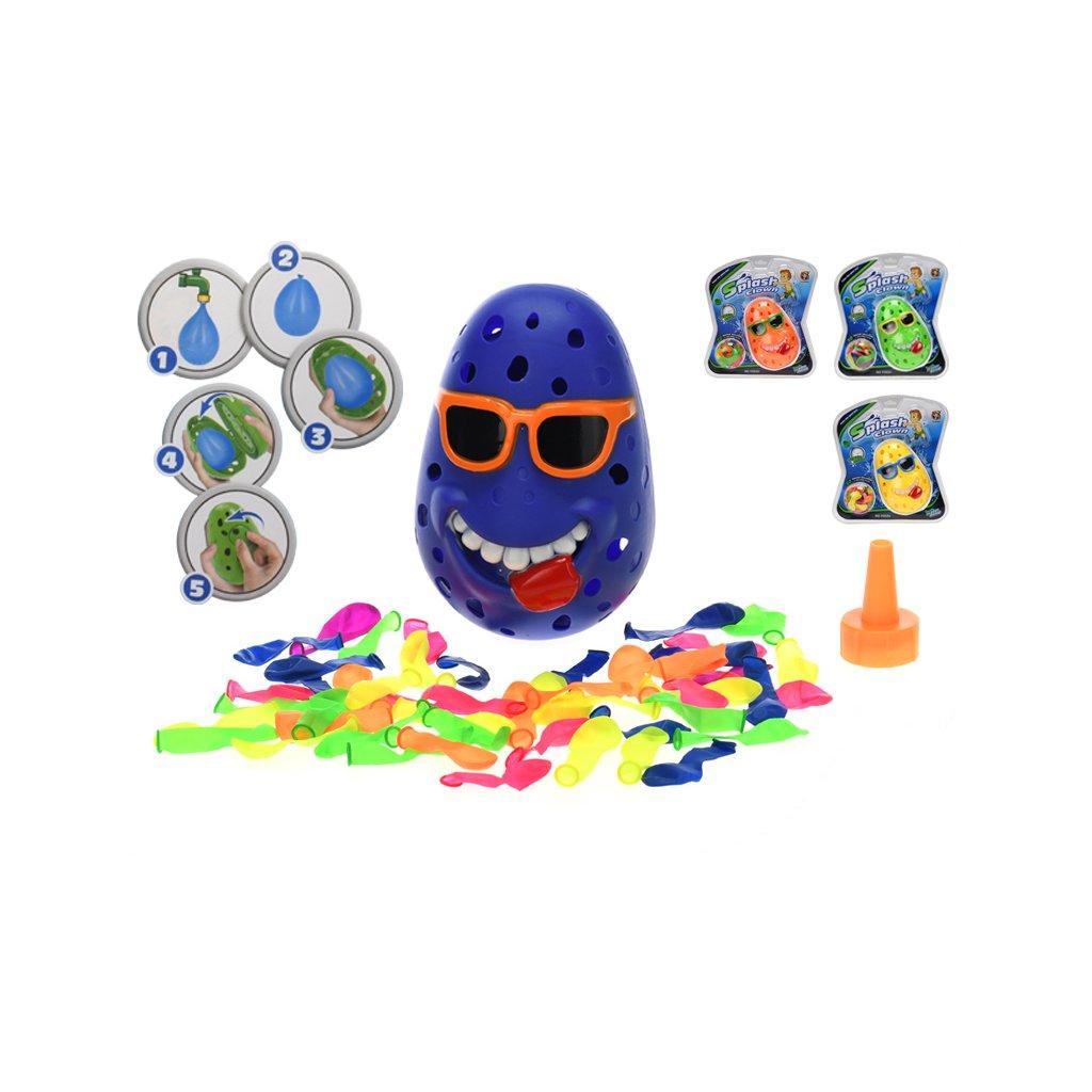 Vodná hra klaun s 50ks vodných bômb 4farby na karte