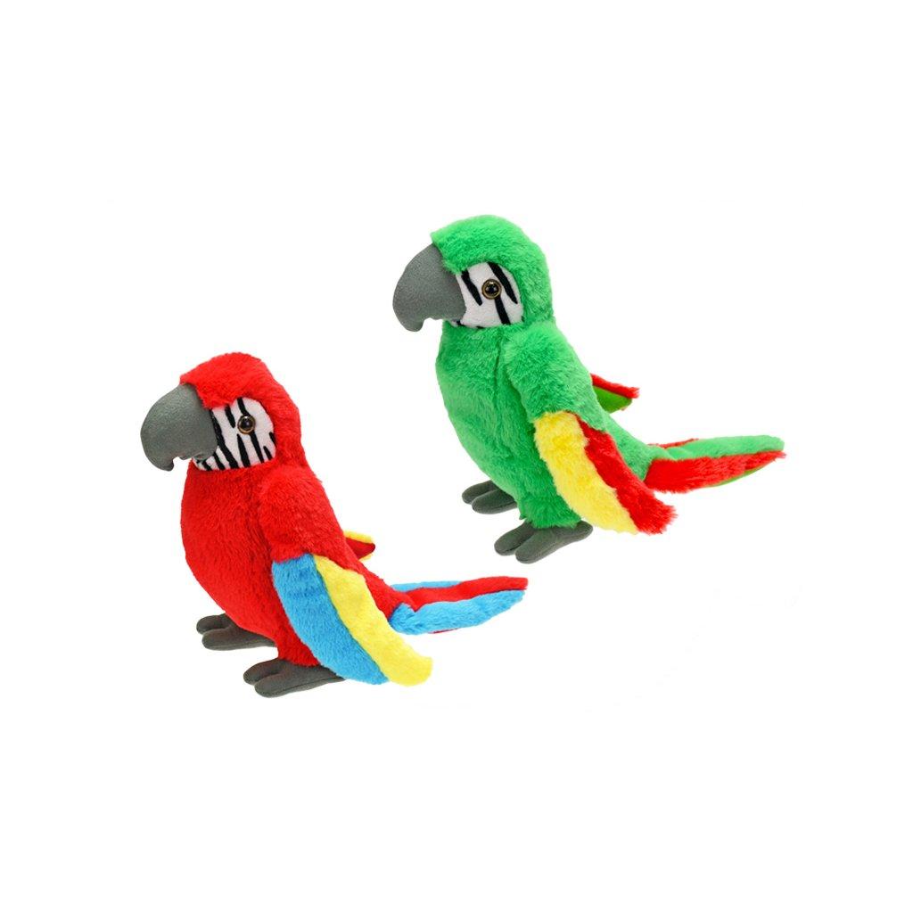 Papagáj plyšový 31cm 2farby 0m+