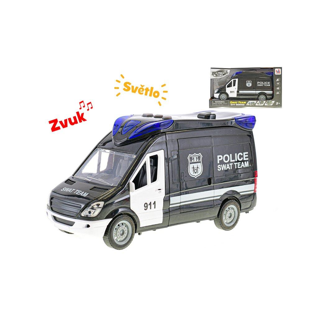 Auto zásahová jednotka 26cm na zotrvačník na batérie so svetlom a zvukom s doplnkami v krabičke