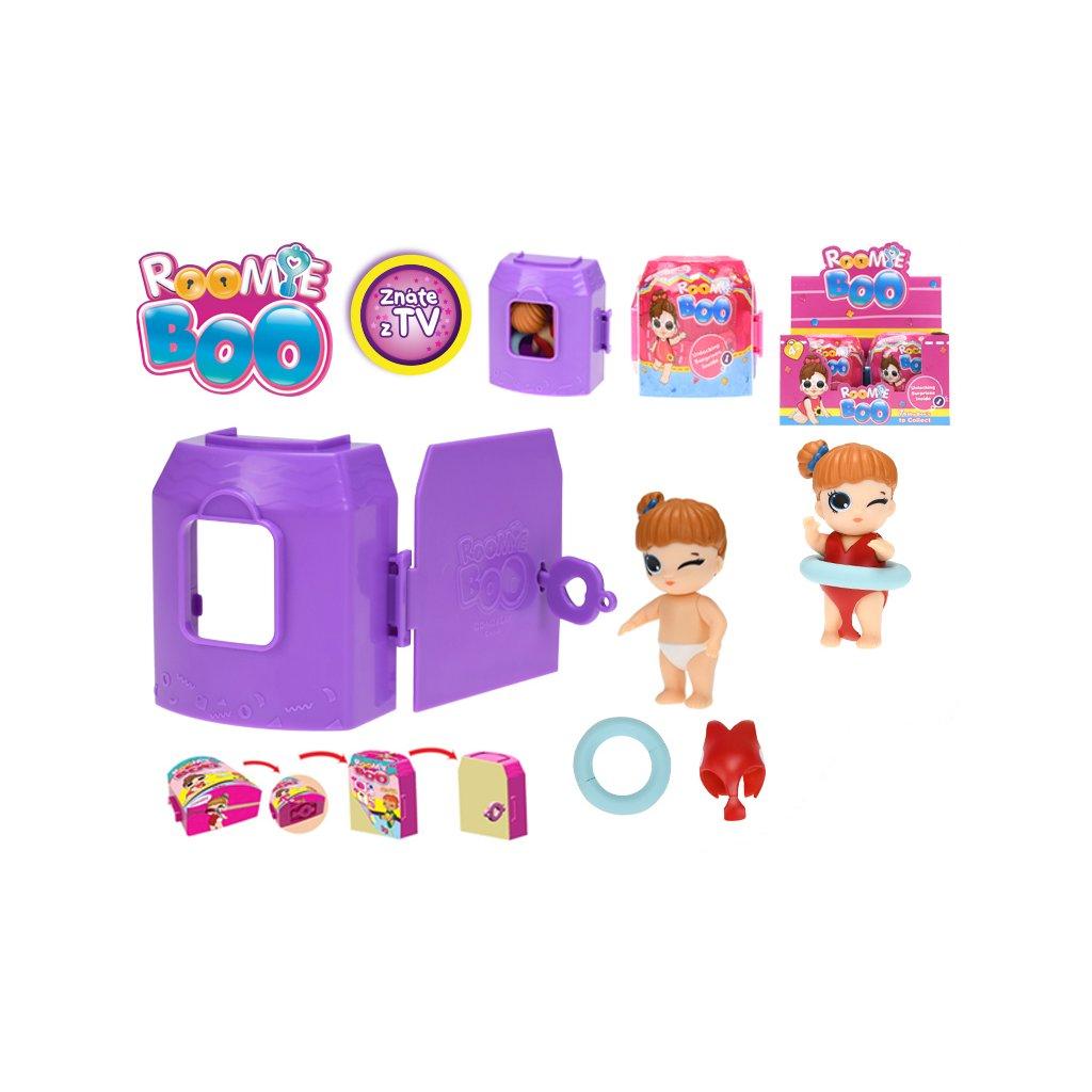 Roomie Boo Surprise 7druhov bábika + šaty s doplnkami v domčeku