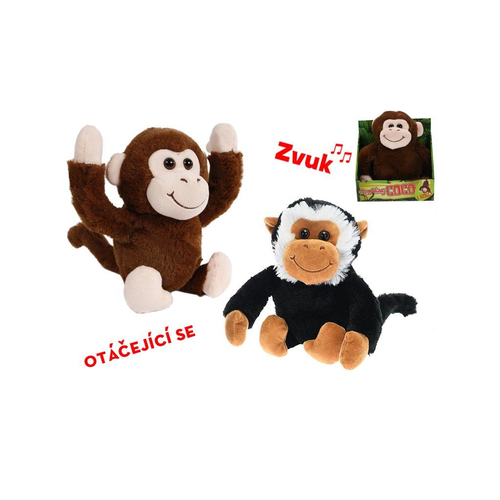 Opica veselá 25cm na batérie so zvukom 2druhy 12m+ v krabičke