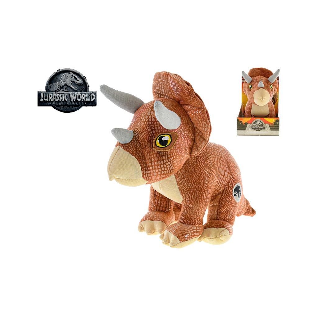 Jurský svet 2 Triceratops 30cm, plyšový sediací 0m+ v krabičke