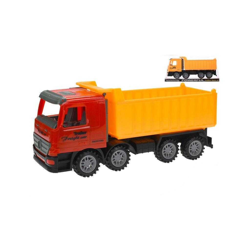 Auto nákladné sklápačka 35cm na zotrvačník  v krabičke