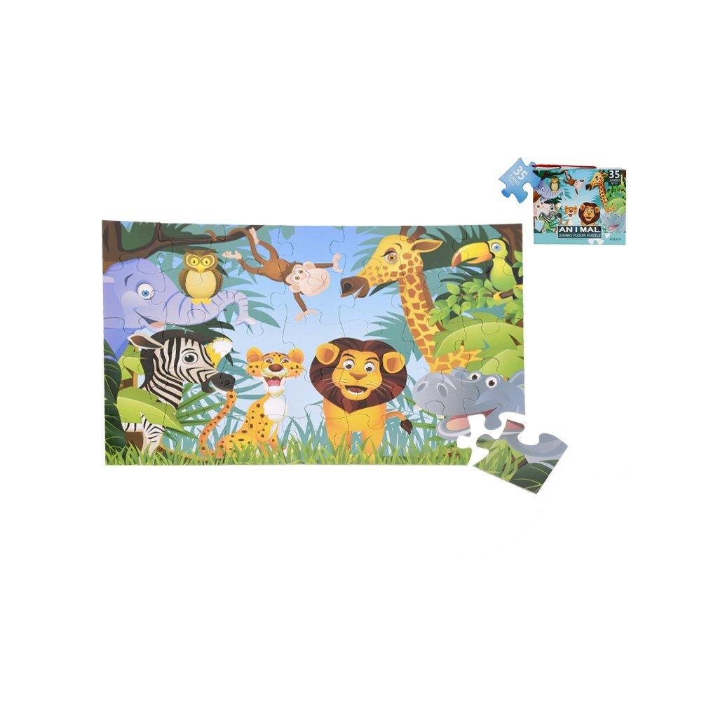 Puzzle jungle 60x44cm 35dielikov v krabičke